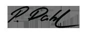 Preben Dahls signatur